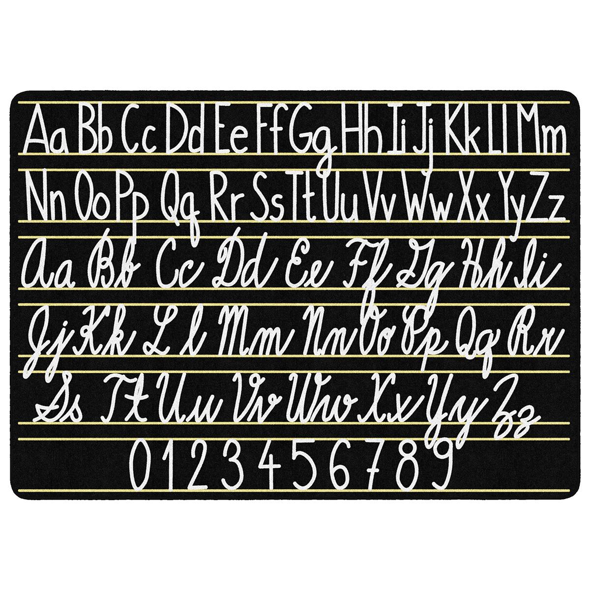 "Handwriting Sampler Rug - 7' 6""w X 12'l | Schoolsin"