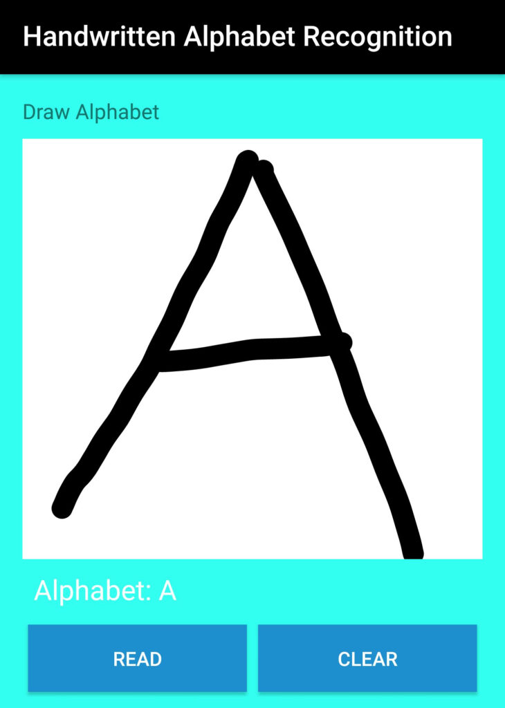 Handwritten Alphabet Recognition   Learn Abc For Android
