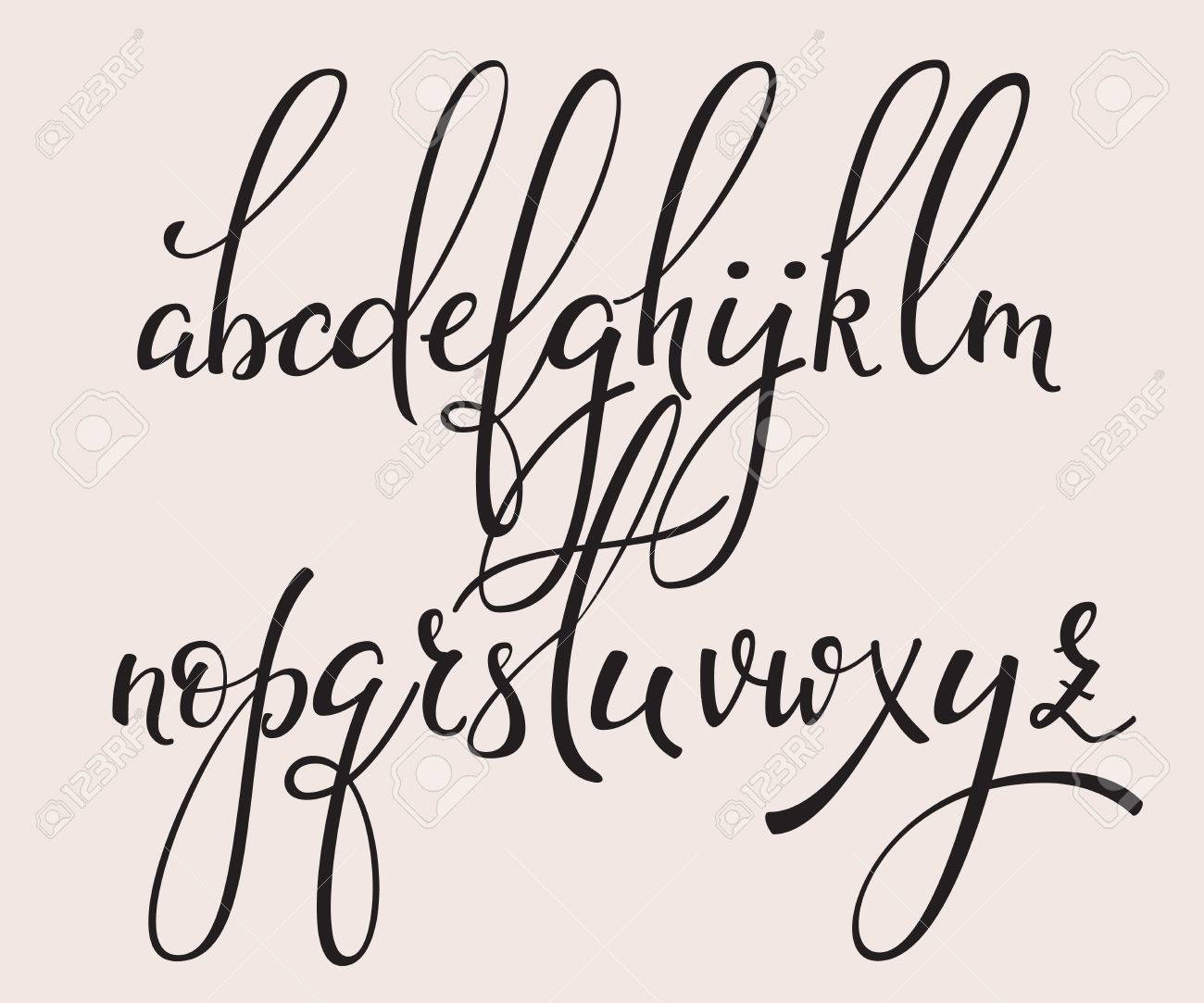 Handwritten Brush Style Modern Calligraphy Cursive Font With..