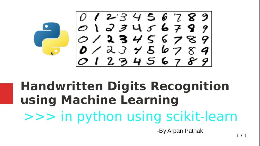 Handwritten Digits Recognition In Python Using Scikit Learn