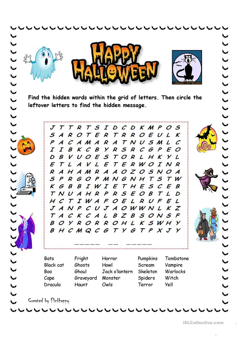 Happy Halloween! - English Esl Worksheets For Distance