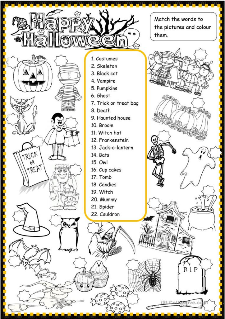 Happy Halloween   English Esl Worksheets For Distance