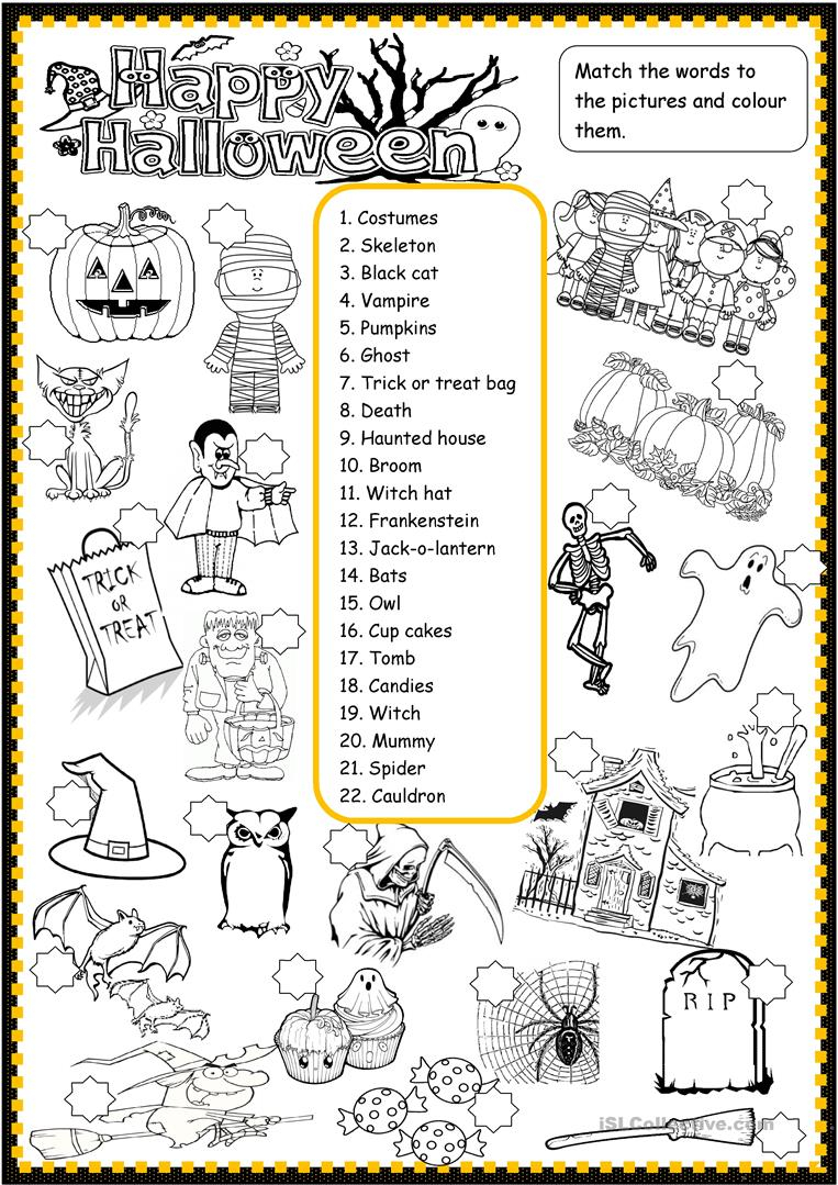 Happy Halloween - English Esl Worksheets For Distance