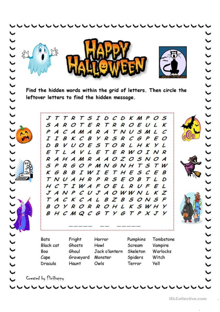 Happy Halloween!   English Esl Worksheets For Distance