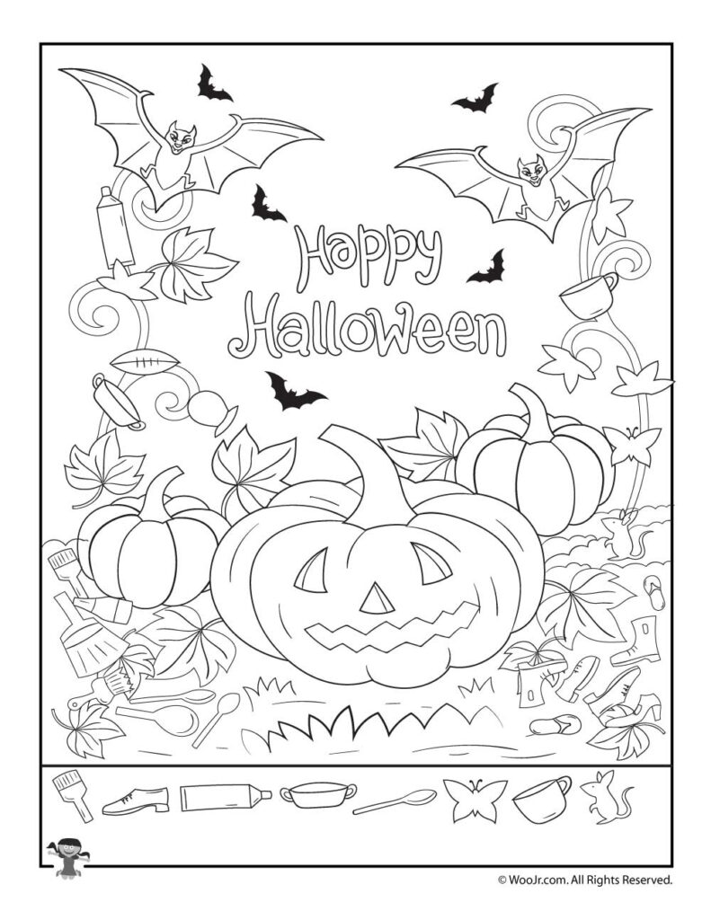 Happy Halloween Hidden Pictures Activity Page | Woo! Jr