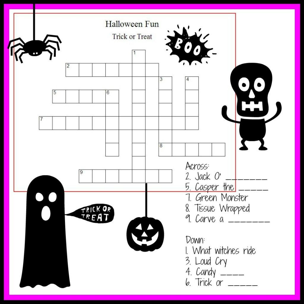 Happy Halloween Puzzles For Kids   Busy Vegetarian Mom