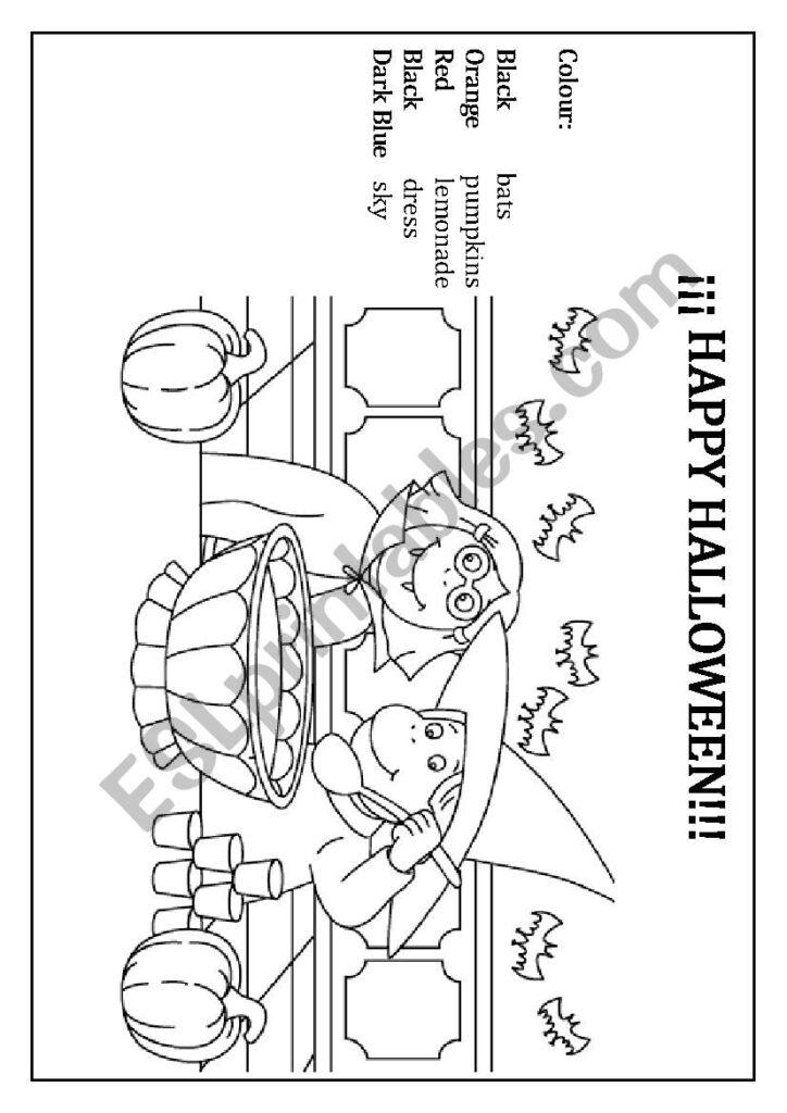 Happy Halloween Worksheet   Esl Worksheetkarmenliska