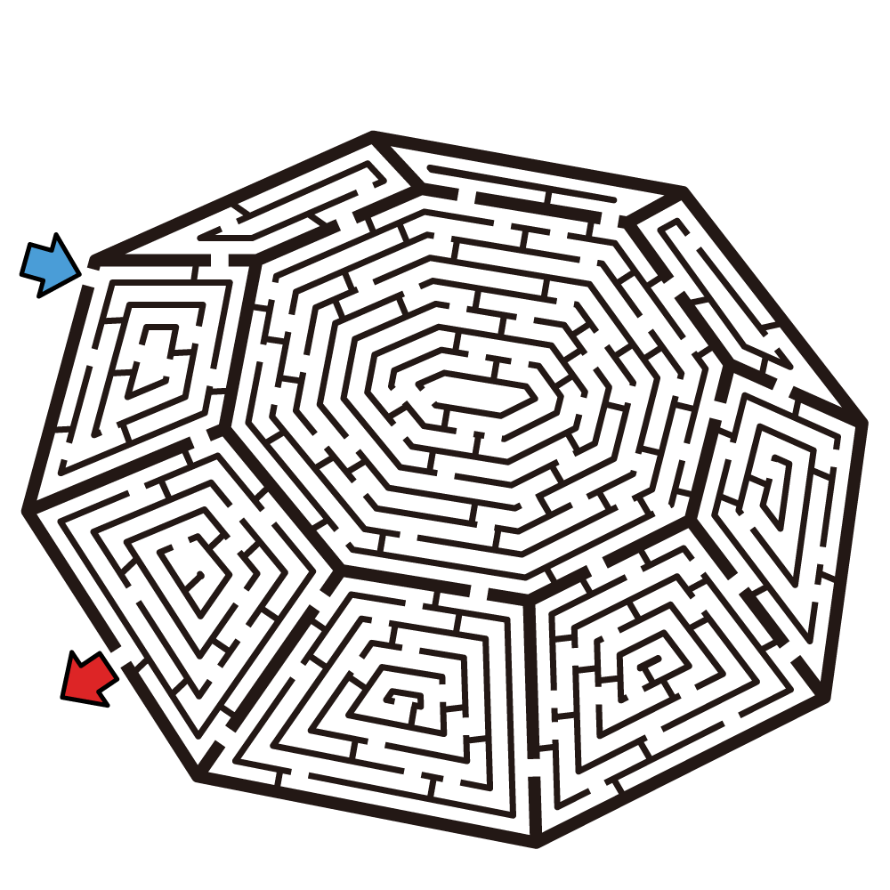 Hard Mazes - Best Coloring Pages For Kids | Hard Mazes