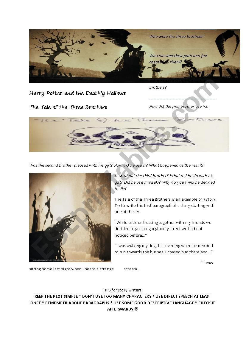 Harry Potter And The Deathly Hallows The Tale Of The Three