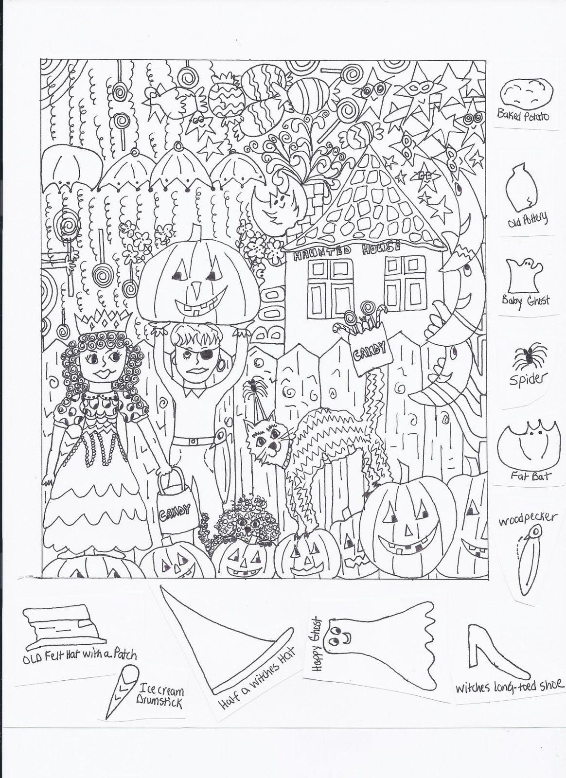 Hidden Pictures Çizimler Resimler Kelebekler Halloween