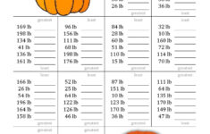 Free Halloween Math Worksheets For High School
