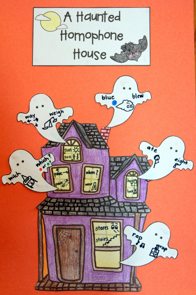 Homophone Craftivity For Halloween | Homophones, Third Grade