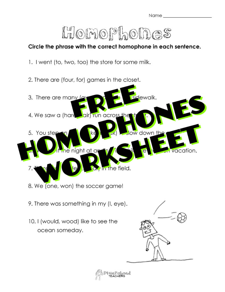 Homophones | Squarehead Teachers