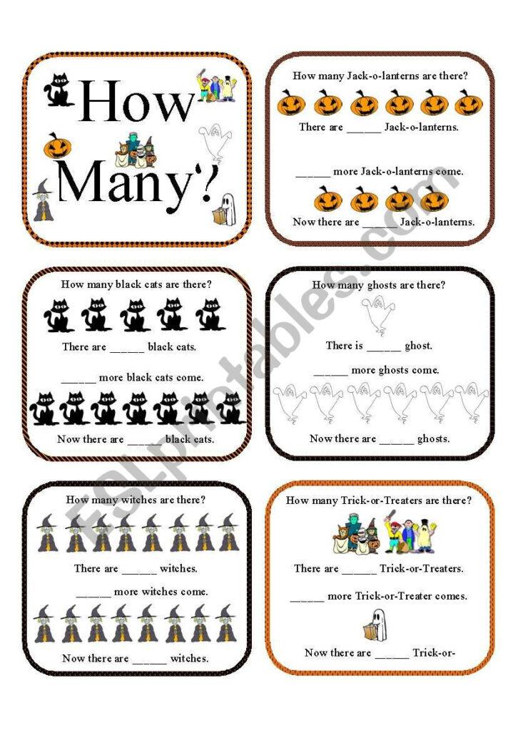 How Many?halloween Activities   Esl Worksheetaz06Qj