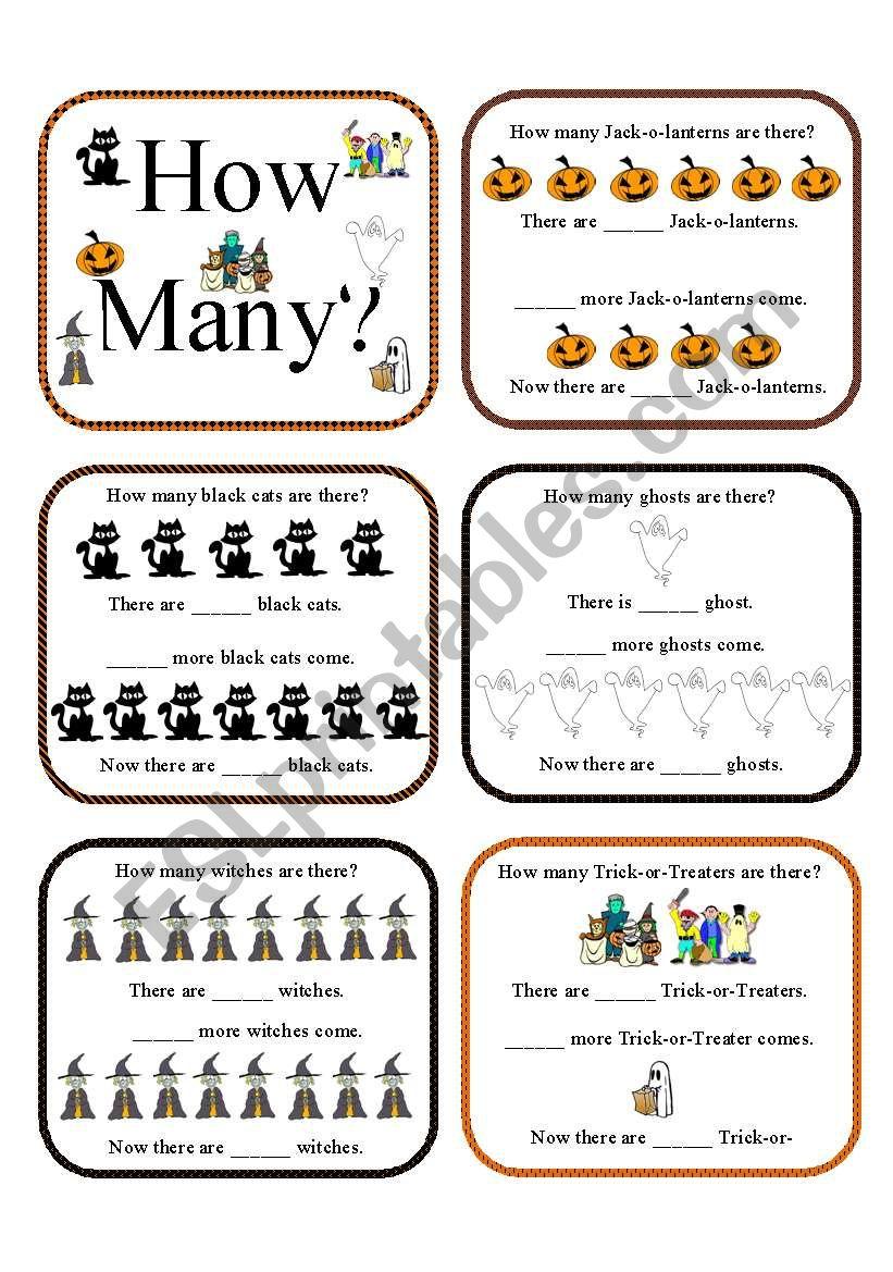 How Many?halloween Activities - Esl Worksheetaz06Qj