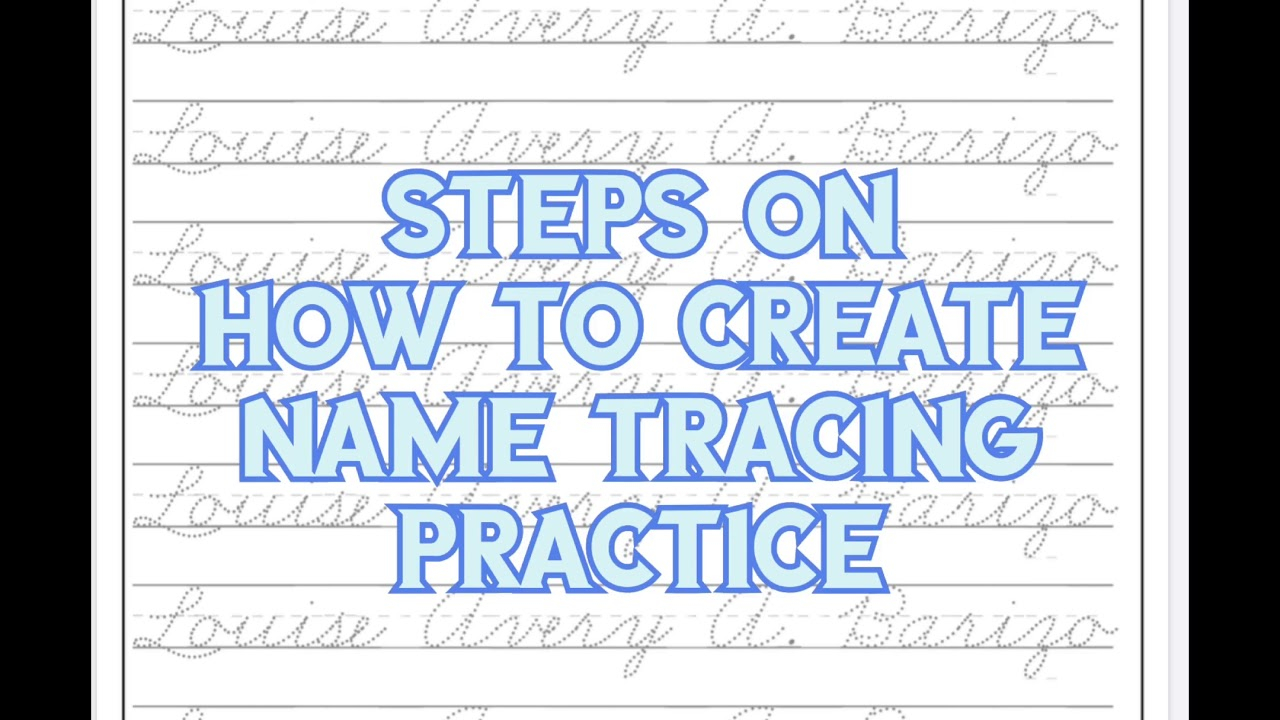 How To Create Name Tracing Worksheets | Wiz Vlog | Wiz Cool with regard to Name Tracing Deped Common