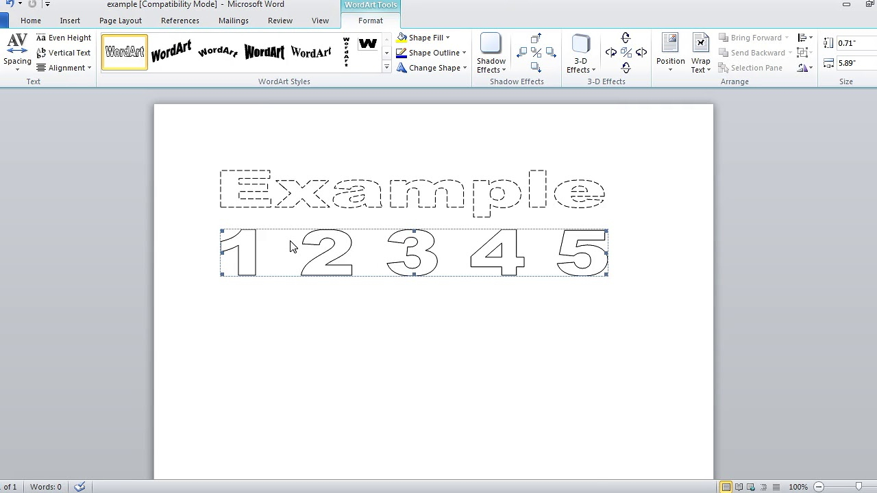 How To Make Dashed Letters And Number Tracing In Microsoft in Name Tracing Microsoft Word