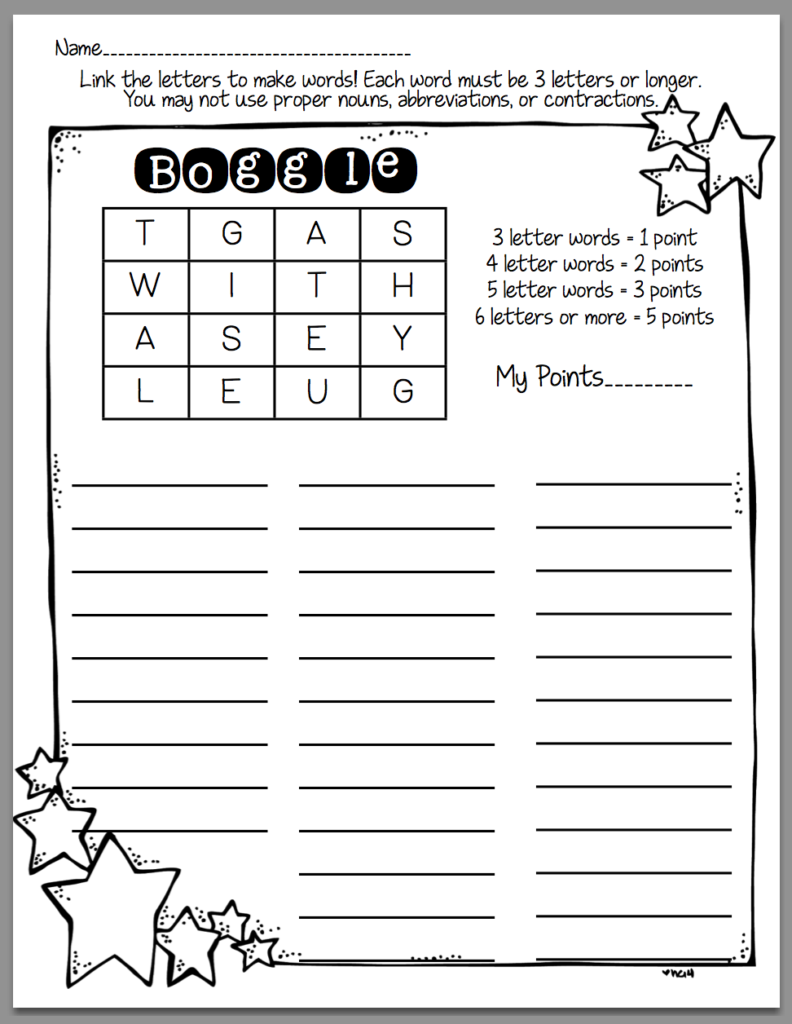 How To Use Boggle In Word Work (Sunny Days In Second Grade