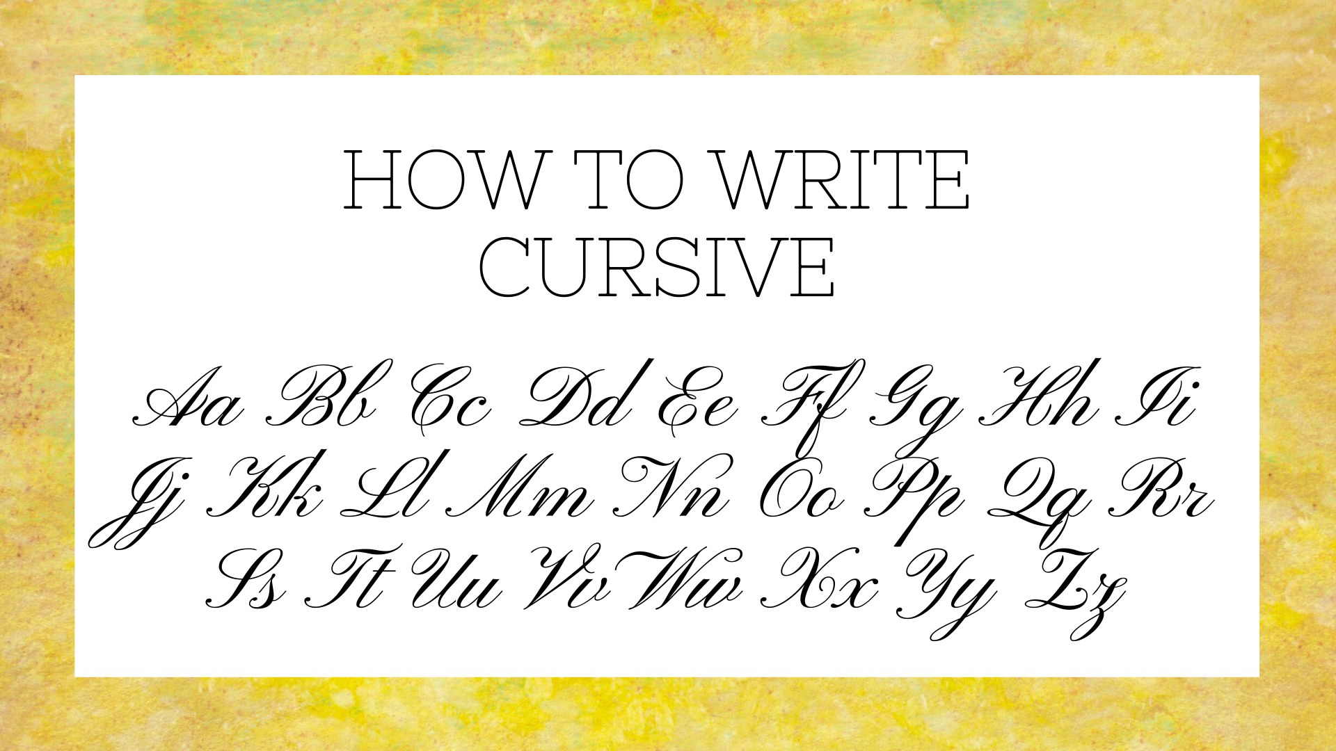 How To Write Cursive Letters | Science Trends