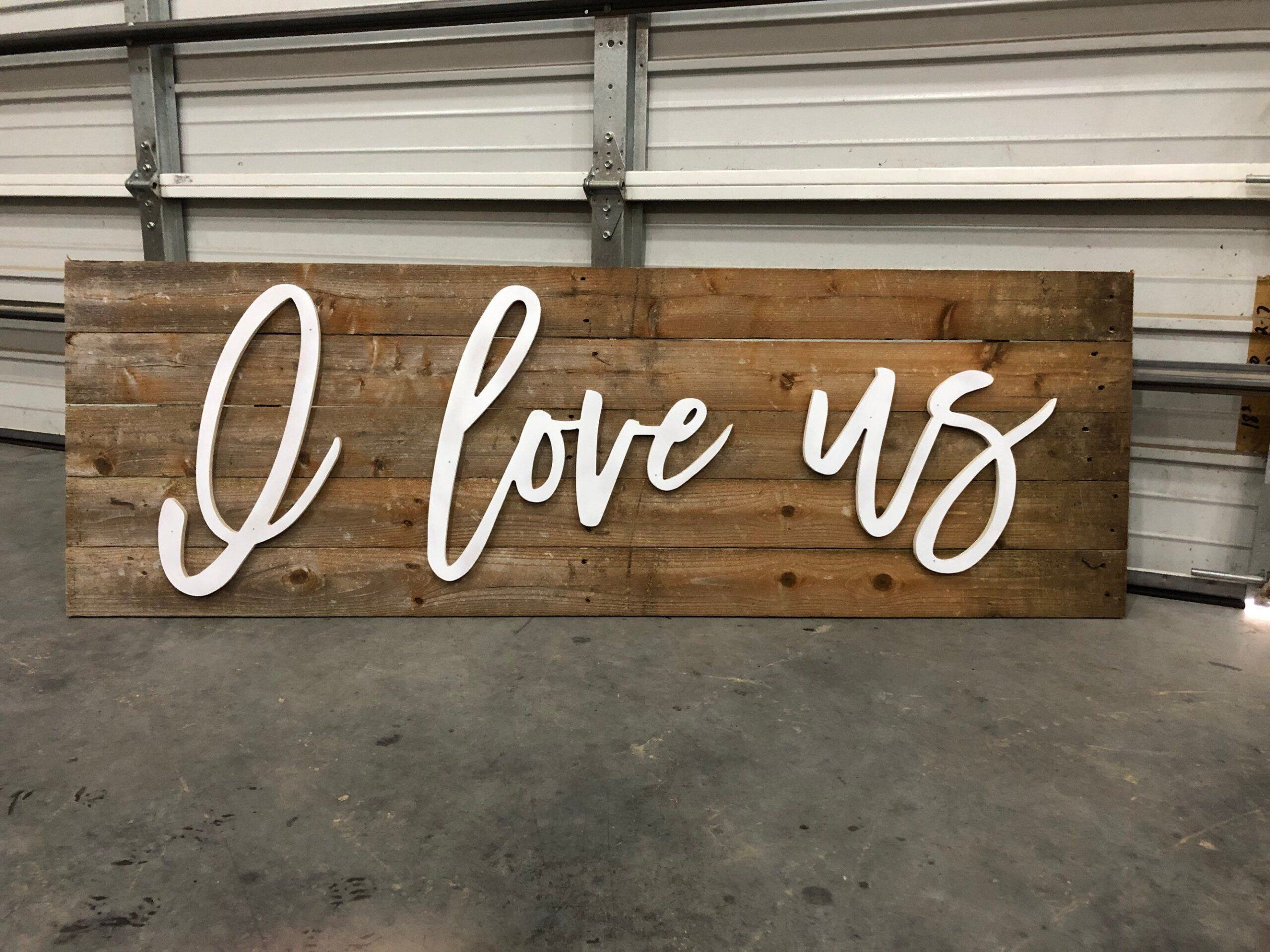 I Love Us / Wood Words / Letters / Craft / Diy / Wall Art