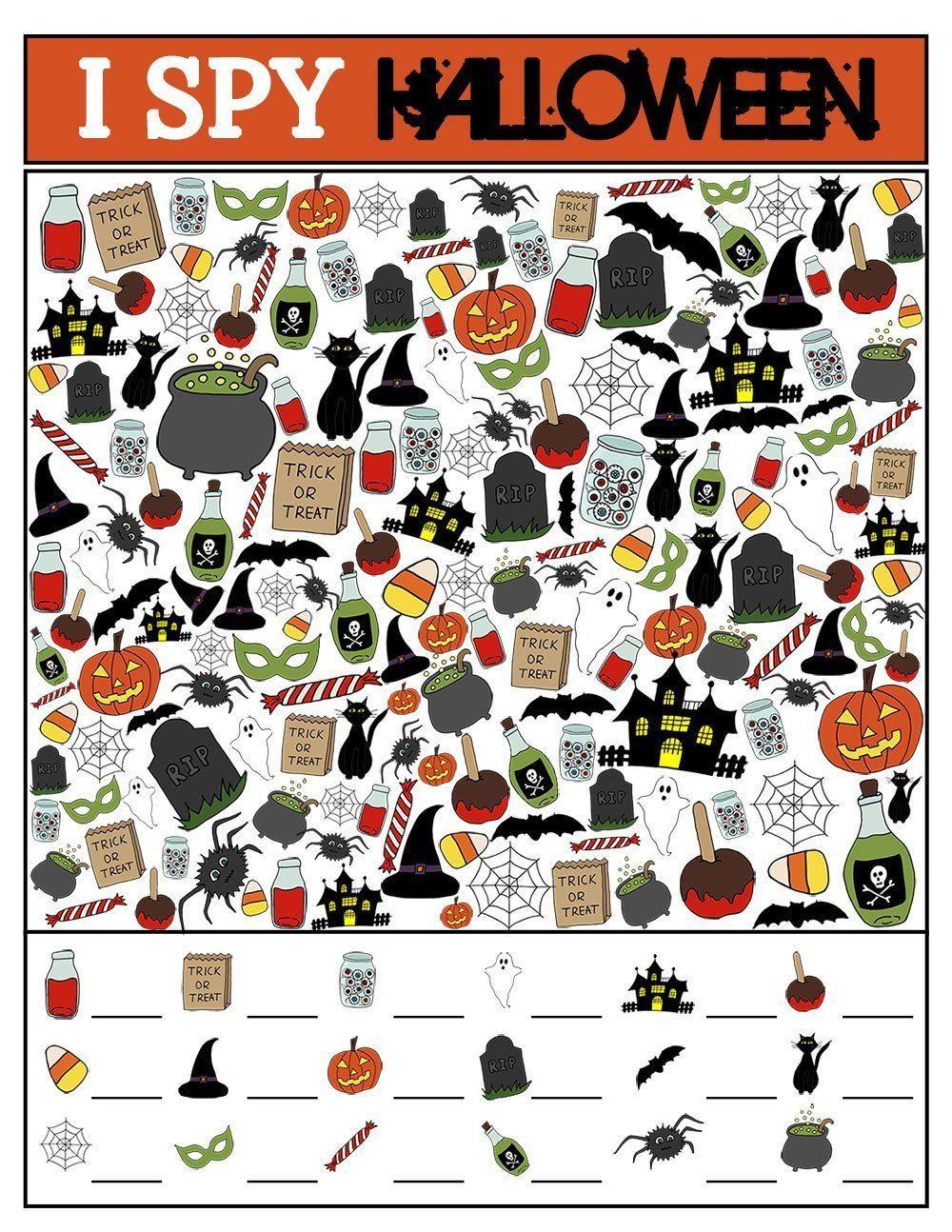 I Spy Halloween Edition Worksheet