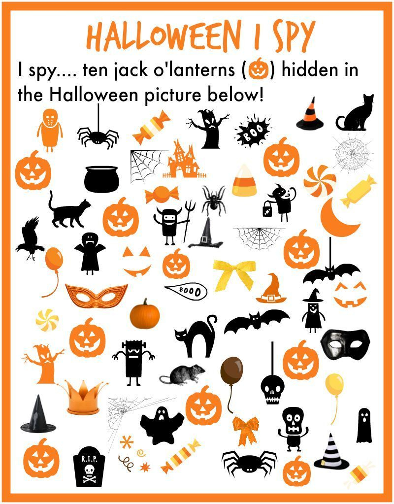 I Spy… Halloween! | Halloween Preschool, Halloween