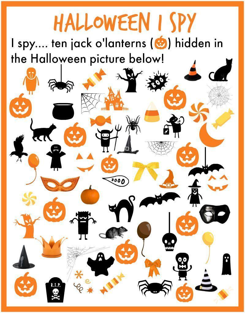 I Spy… Halloween!   Halloween Preschool, Halloween