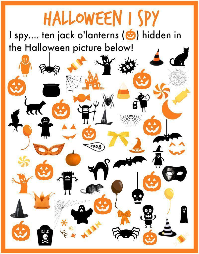 I Spy Halloween! - The Pleasantest Thing   Halloween