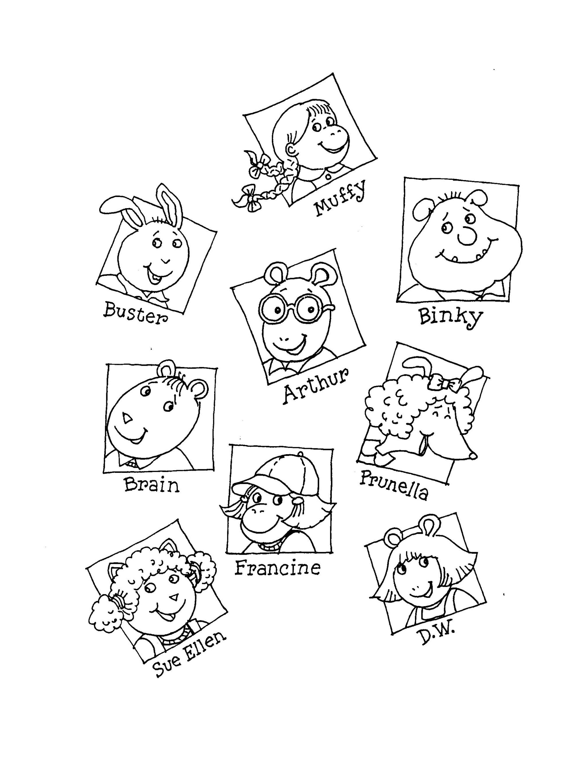 Image Result For How To Draw Characters From Arthur