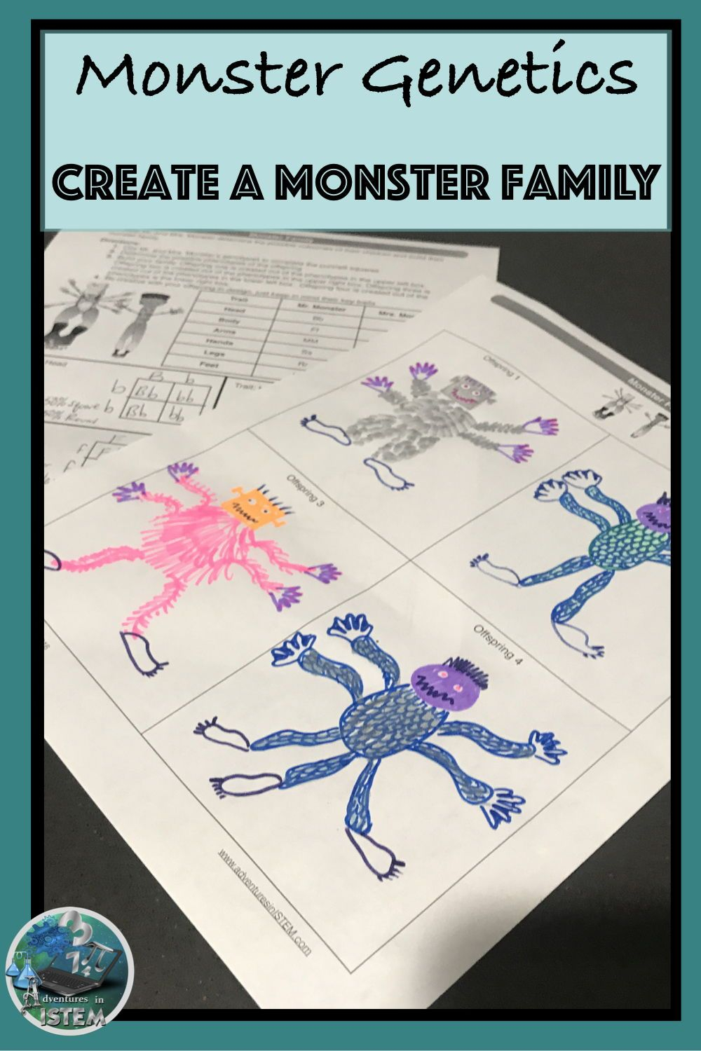 Halloween Monster Genetics Worksheet A Answer Key ...
