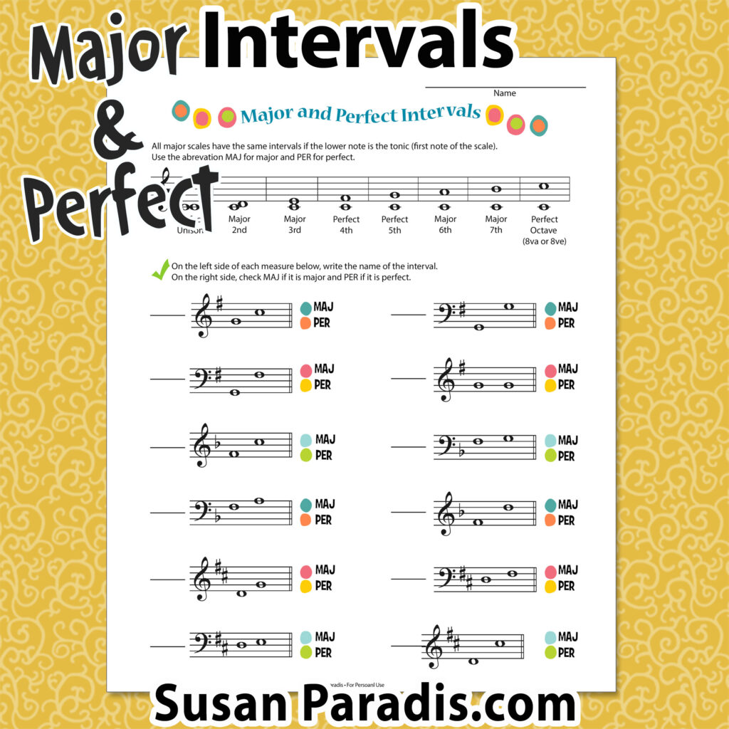 Intervals – Susan Paradis Piano Teaching Resources