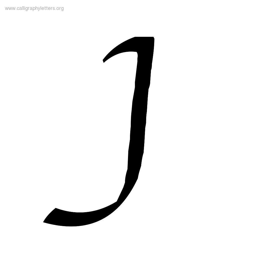 J Cursive Font