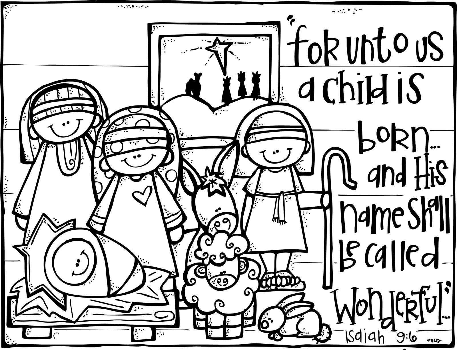 Jesus Coloring Pages Pdf - Coloring Innovative Nativity