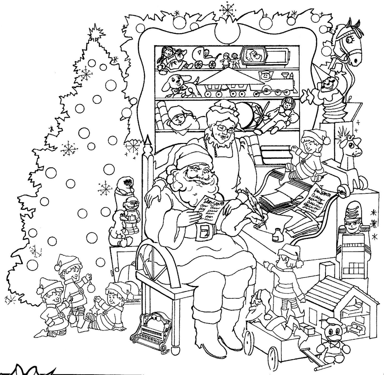 Kcngpbzdi Christmas Coloring Pages Printablereeor Kids To