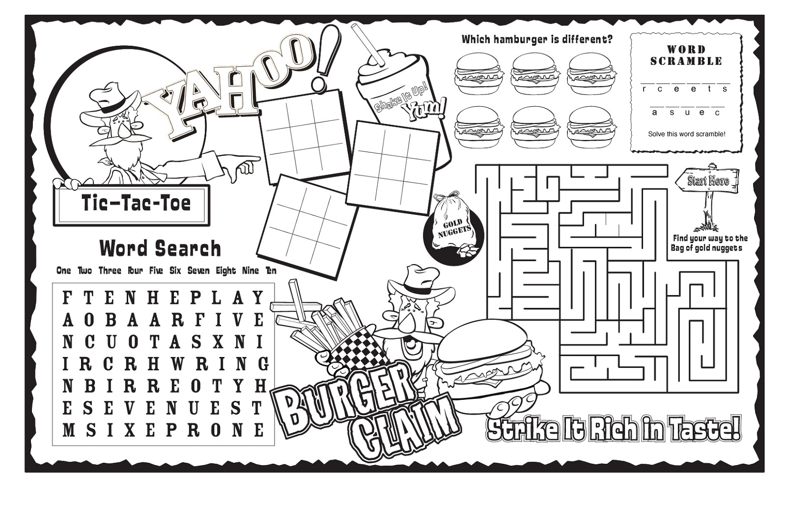 Kids Activity Sheet Free Halloween Printable Puzzles For