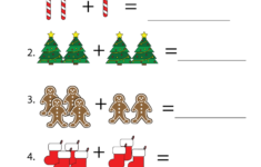 Christmas Themed Math Worksheets For Kindergarten