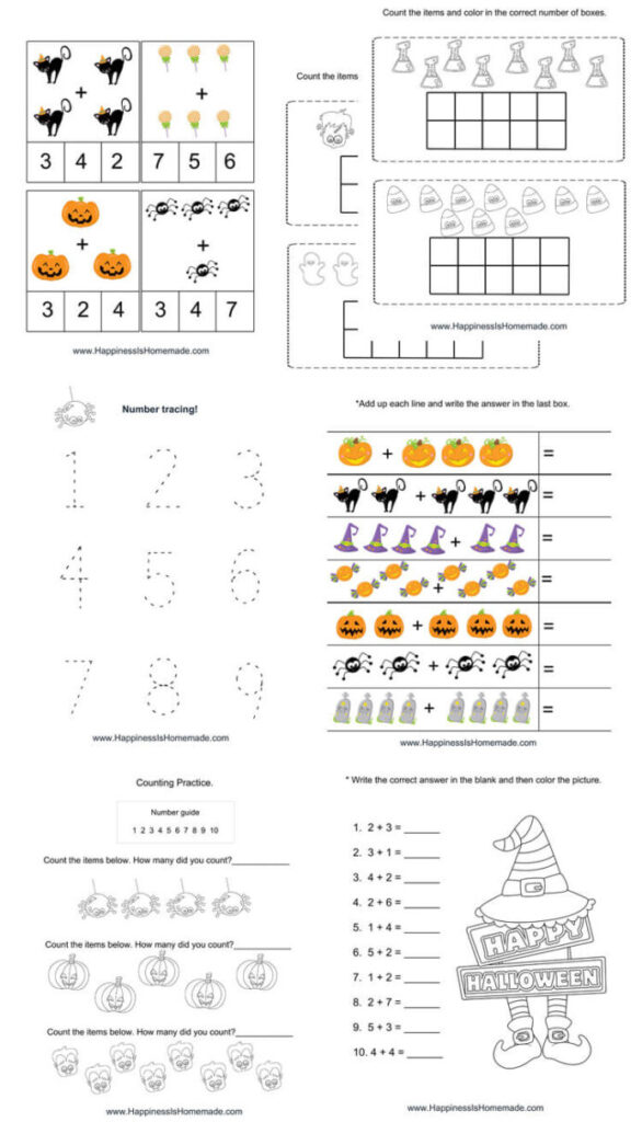 Kindergarten Halloween Math Pack Happiness Is Homemade