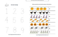 Free Printable Halloween Math Worksheets Kindergarten