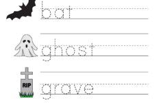 Free Printable Halloween Worksheets For Preschoolers