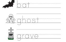 Free Printable Halloween Worksheets For Preschoolers