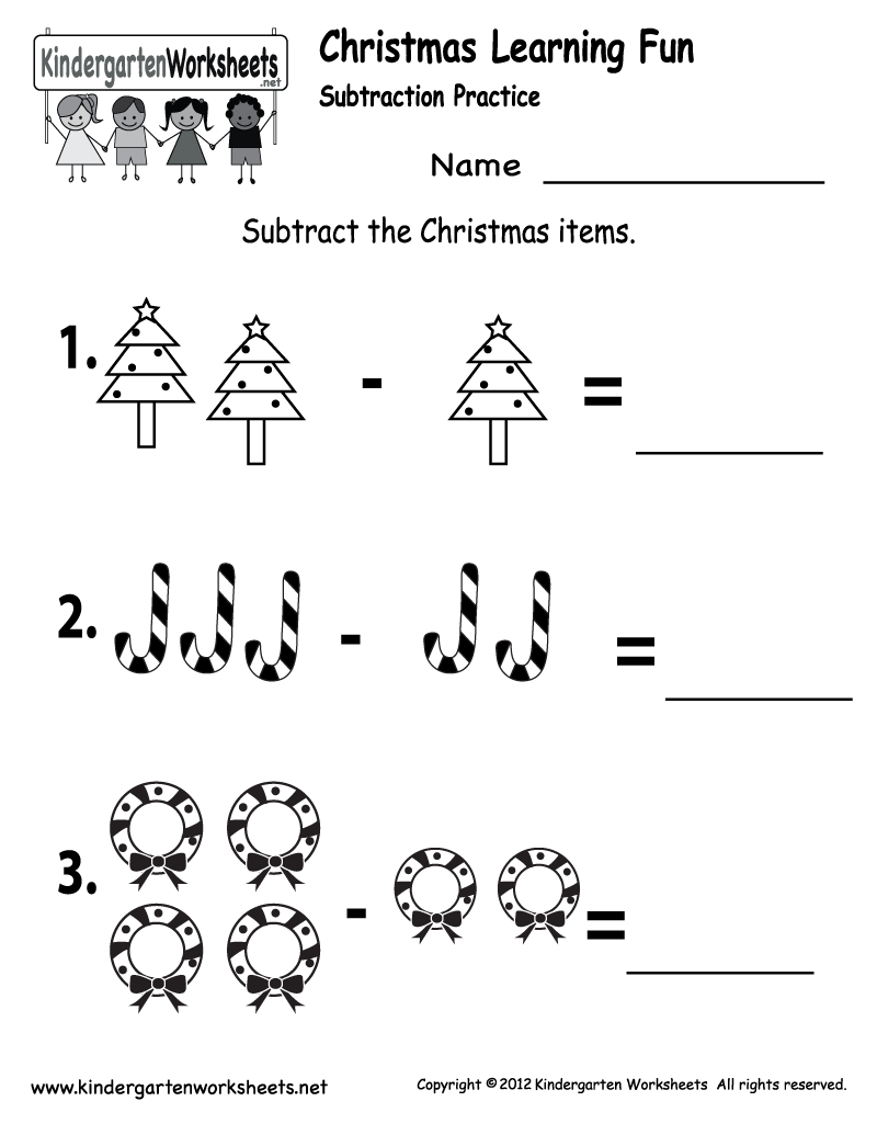 Kindergarten Worksheets Printable |  Subtraction
