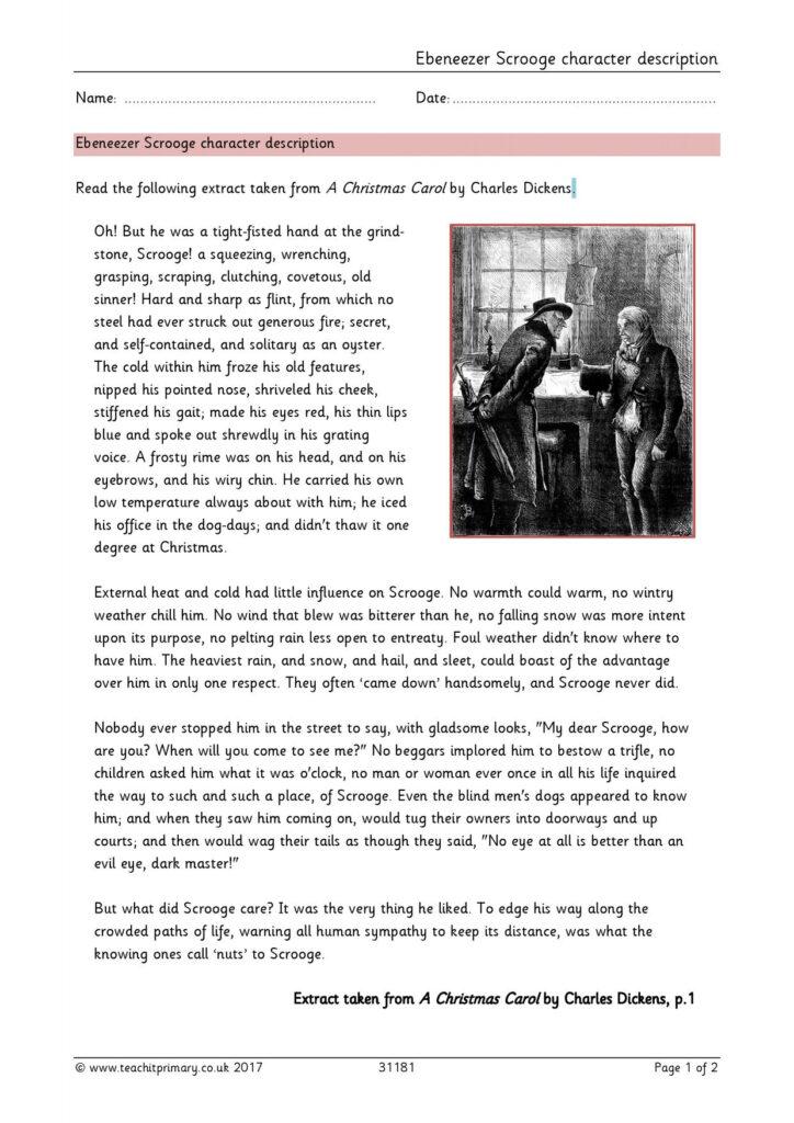 Ks2   A Christmas Carolcharles Dickens   Teachit Primary