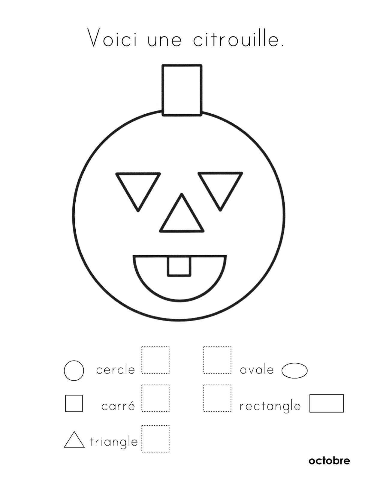 La Nuit, Les Formes, L'halloween | French Worksheets, Learn