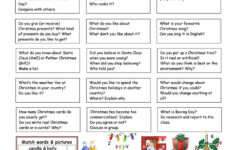 Let's Talk About Christmas – English Esl Worksheets For