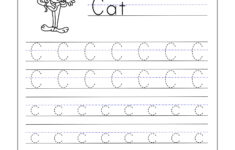 Letter C Worksheets For Kindergarten – Trace Dotted Letters with regard to Alphabet Worksheets Letter C