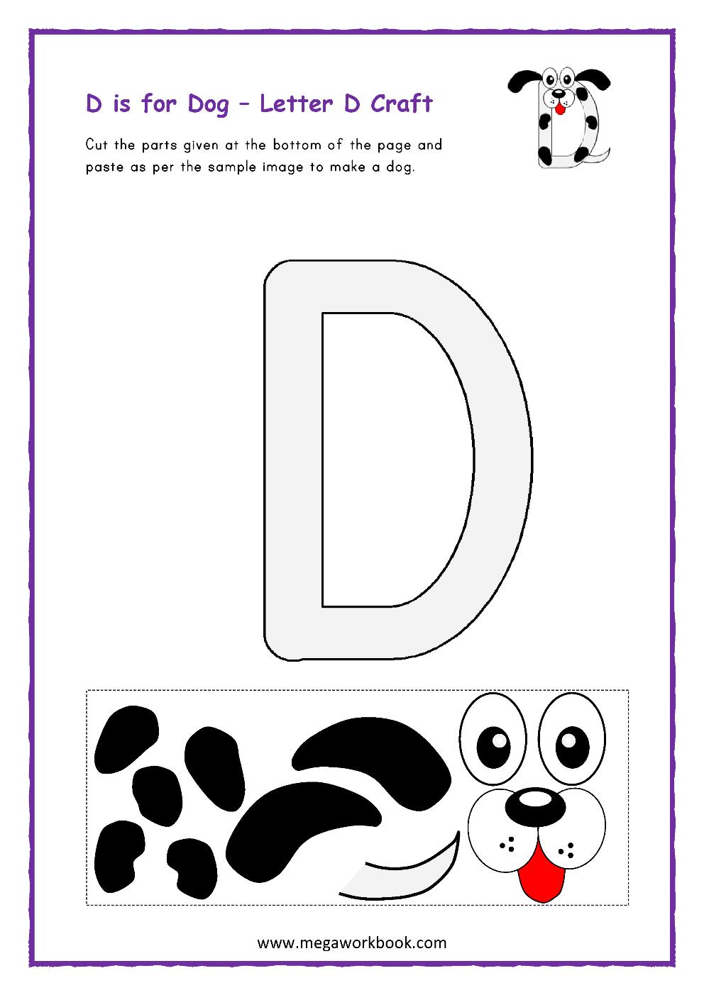 Letter D Activities - Letter D Worksheets - Letter D intended for Letter D Worksheets Cut And Paste