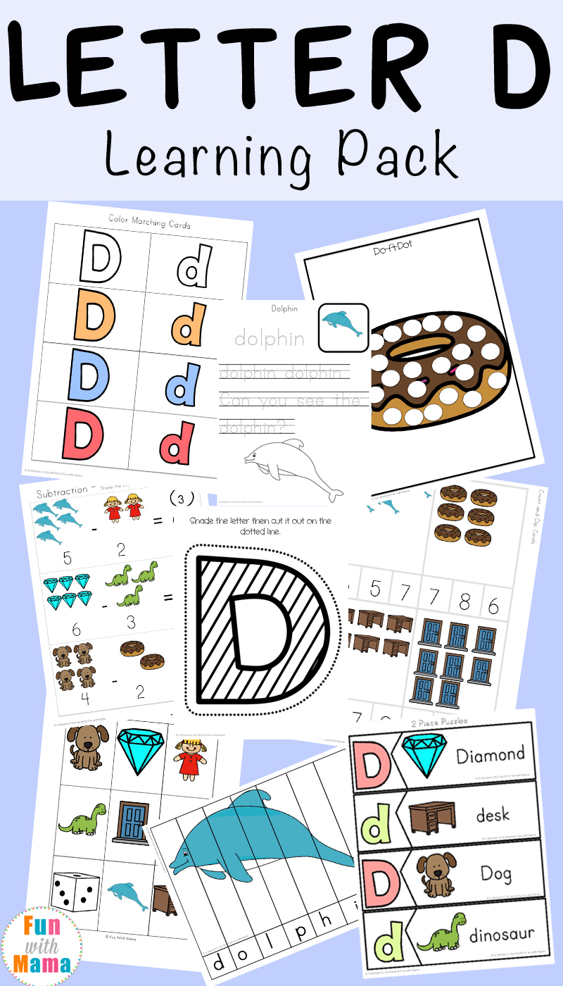 Letter D Worksheets + Activities - Fun With Mama within Letter D Worksheets Cut And Paste