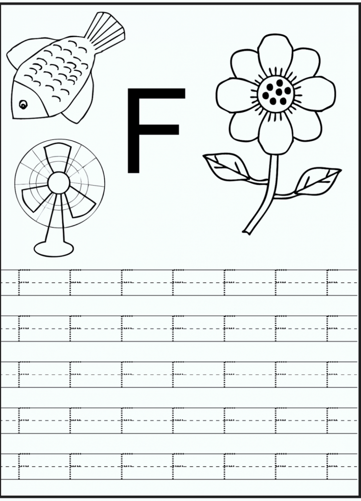Letter F Worksheets In Letter F Worksheets Printable