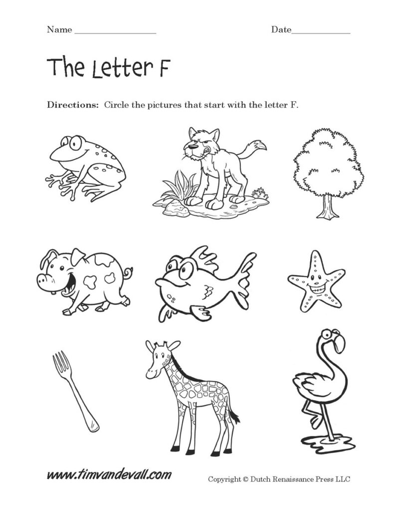 Letter F Worksheets | Preschool Alphabet Printables In Letter F Worksheets For Preschool Pdf