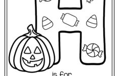 Halloween Color By Letter Worksheets